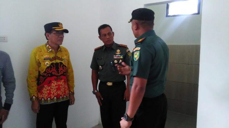 Danrem 043/Gatam Kolonel Inf Taufiq Hanafi Tinjau Pembangunan Koramil 0422-03/Pesisir Tengah