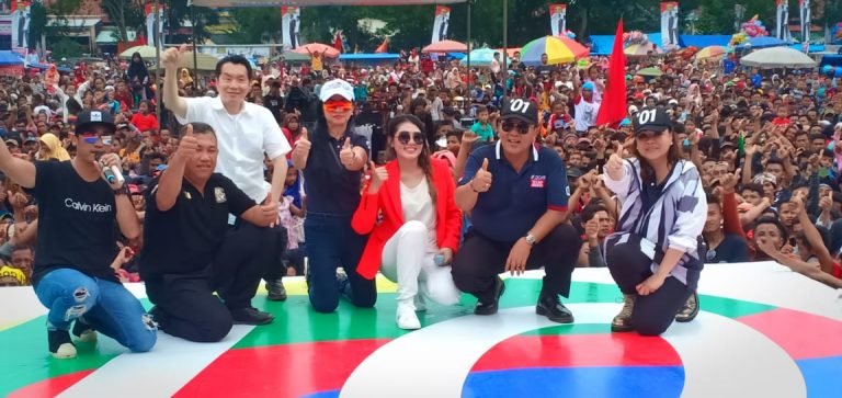 Mengampanyekan Capres Jokowi-Ma'ruf Amin, Arinal Djunaidi Akan Bangun Pabrik Karet dan Politektik Industri