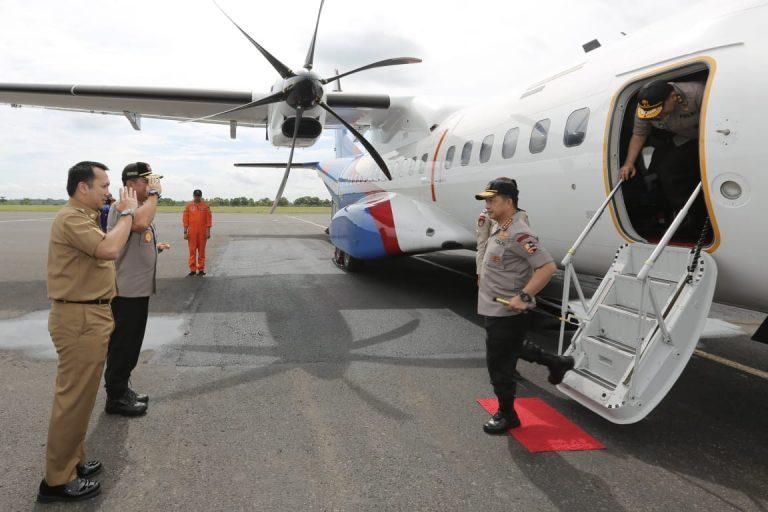 Kapolri Tito Karnavian Tinjau Lokasi Kebakaran Polres Lampung Selatan