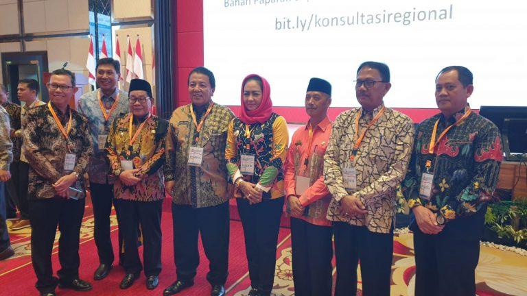 Bupati Tulang Bawang Hj. Winarti SE MH, Dampingi Gubernur Lampung Rapat Konsultasi RPJMN 2020 – 2024 di Medan