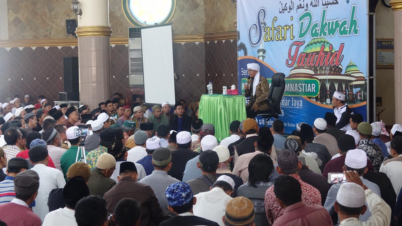 Bupati Loekman Hadiri Safari Dakwah Tauhid di Masjid Istiqlal Bandarjaya
