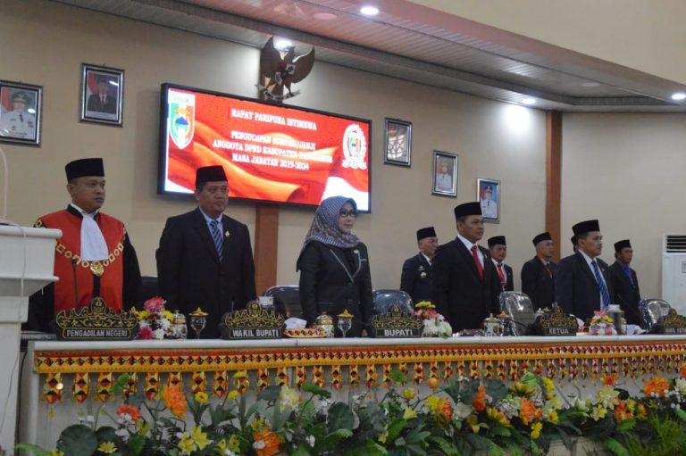DPRD Tanggamus Gelar Paripurna Sumpah Janji Anggota Masa Jabatan 2019/2024