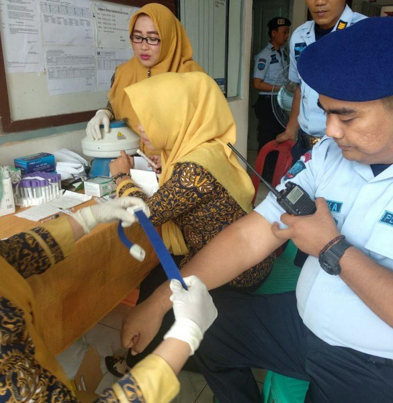 Lapas Kelas II Kota Agung Lakukan Pemeriksaan Hepatitis