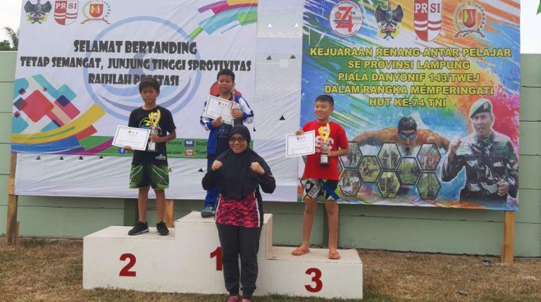 Siswa SD Global Surya Islamic School Raih Juara Renang Antar Pelajar se-Provinsi Lampung