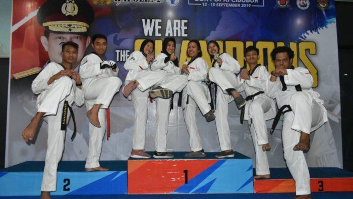 Polwan Polda Lampung Sabet Dua Medali Kapolri Cup 2019