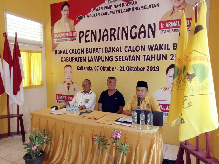 Gelar Rapat Koordinasi, Golkar Lamsel Membuka Pendaftaran Bakal Calon Bupati dan Wakil Bupati Pilkada 2020