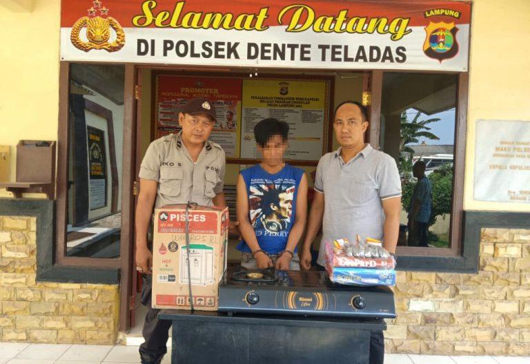 Polsek Dente Teladas Tangkap Pelaku Curat Yang Beraksi di Kampungnya Sendiri