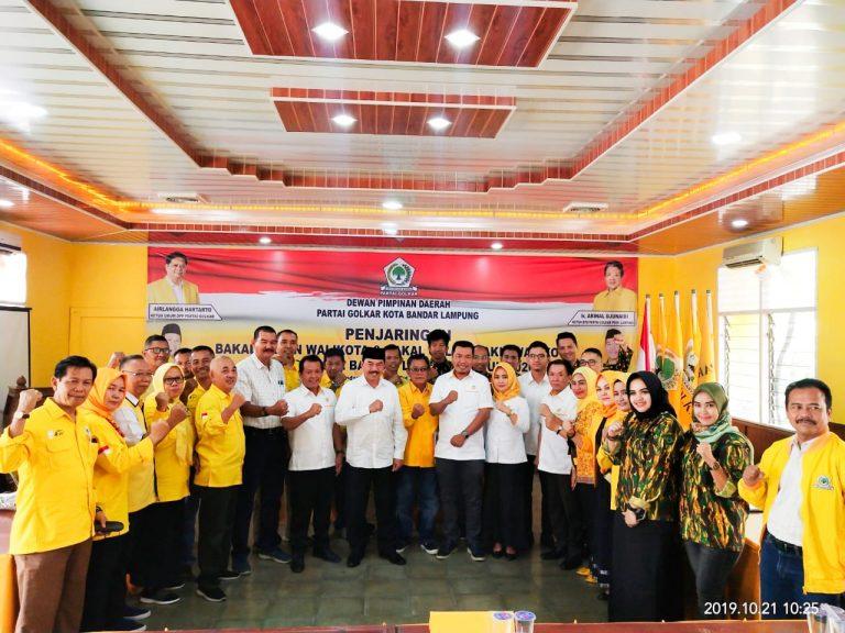 Hari Terakhir Penjaringan Golkar, Tiga Balon Walikota dan Wakil Walikota Bandar Lampung Kembalikan Berkas