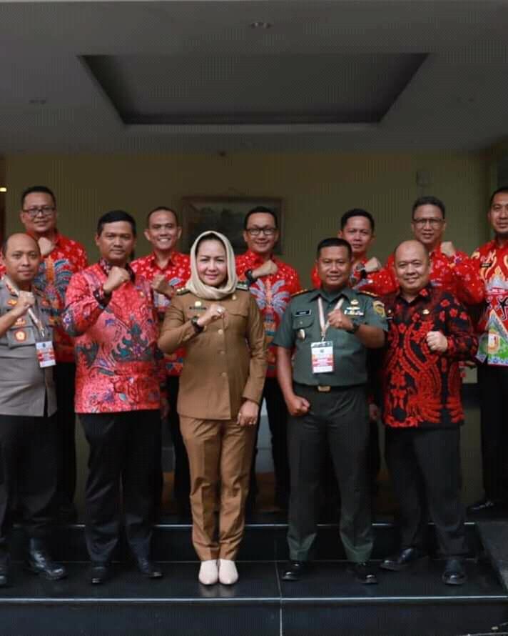 Bupati Winarti dan Forkopimda Tulang Bawang Hadiri Rakornas Indonesia Maju 2019