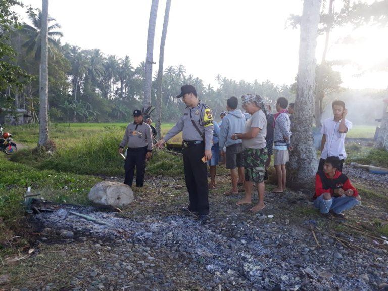 Sembilan Perahu Milik Nelayan di Kota Agung Hangus Terbakar