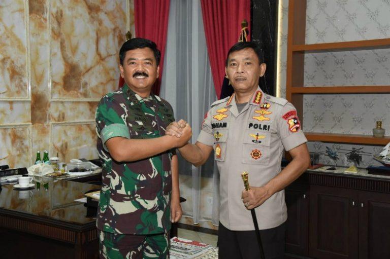 Panglima TNI Menerima Kunjungan Perdana Kapolri Jenderal Idham Azis