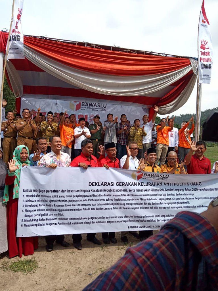 Walikota Bandar Lampung Herman HN Apresiasi Gerakan Kelurahan Anti Politik Uang