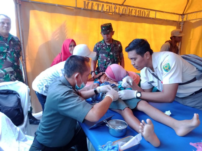 Semarak Hari Juang TNI-AD, Kodim 0410/KBL Gelar Donor Darah dan Sunatan Massal