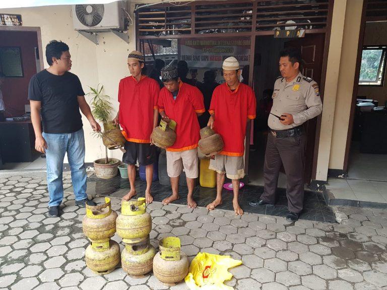 Curi 17 Tabung Gas, Tiga Pelaku Ditangkap Polsek Teluk Betung Selatan