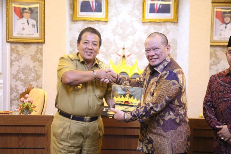 Pertemuan Gubernur Arinal dengan Ketua DPD RI Perkuat Kemitraan Untuk Percepatan Pembangunan