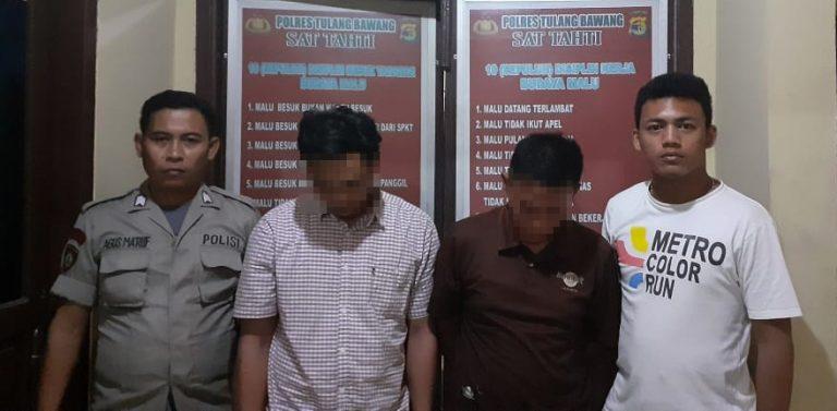 Saat Bertransaksi Narkotika, Dua Warga Sidoharjo Ditangkap Polisi