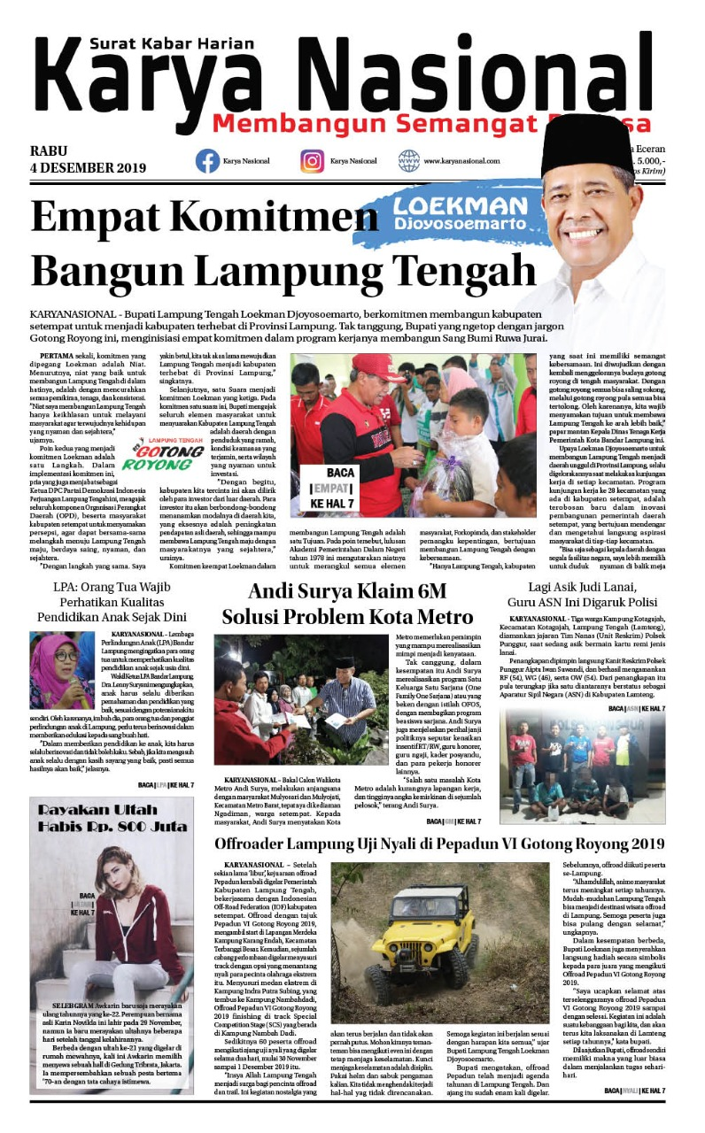 Edisi Rabu 04 November 2019